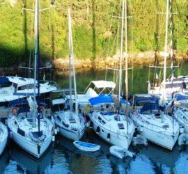 zeiljachten uit de vloot van Ionian Sailing Adventure
