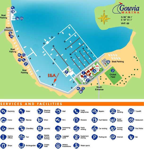Map Corfu Sailing Area Ionian Sailing Adventure Impression